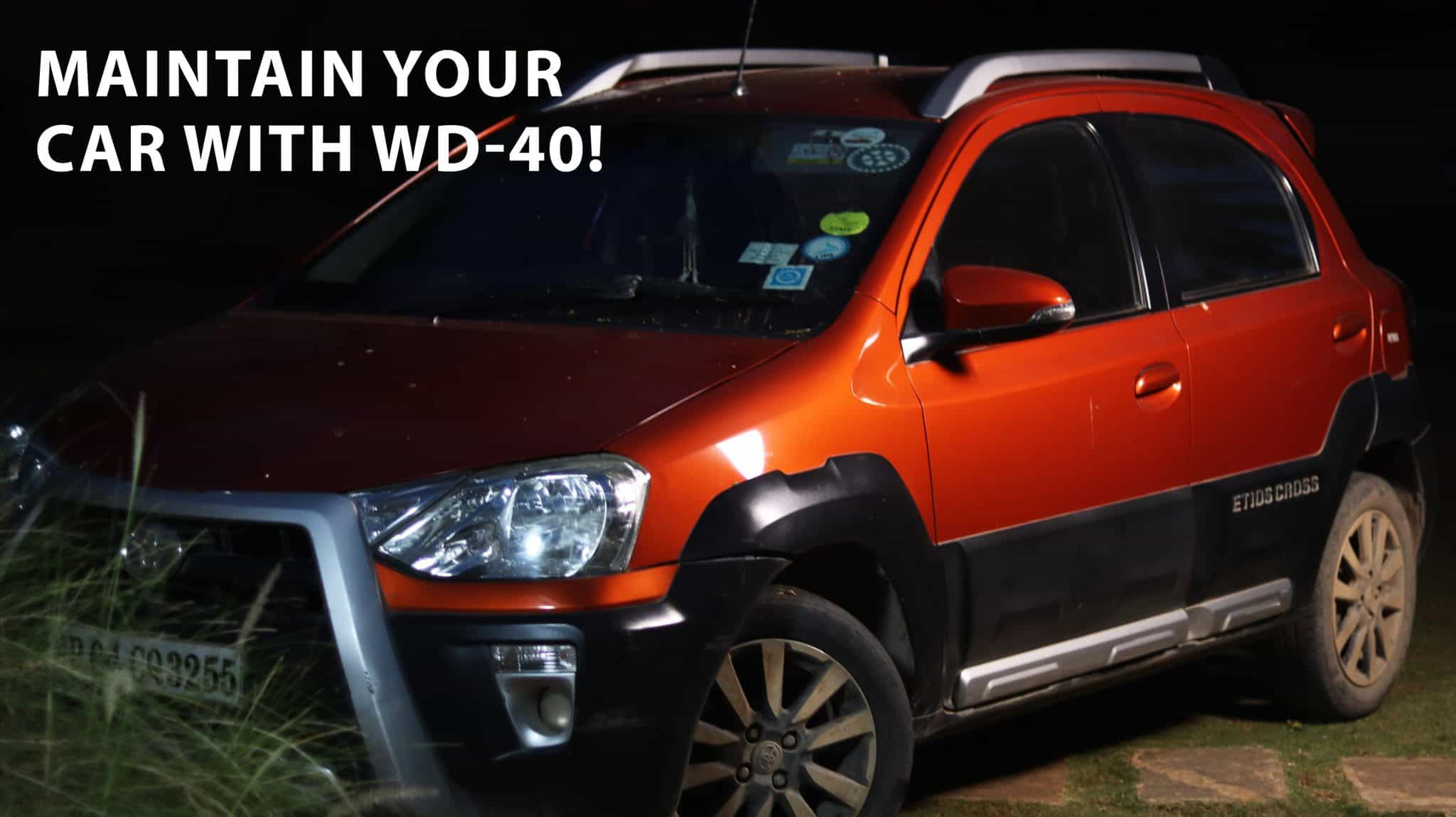 how to protect and lubricate your car with wd 40