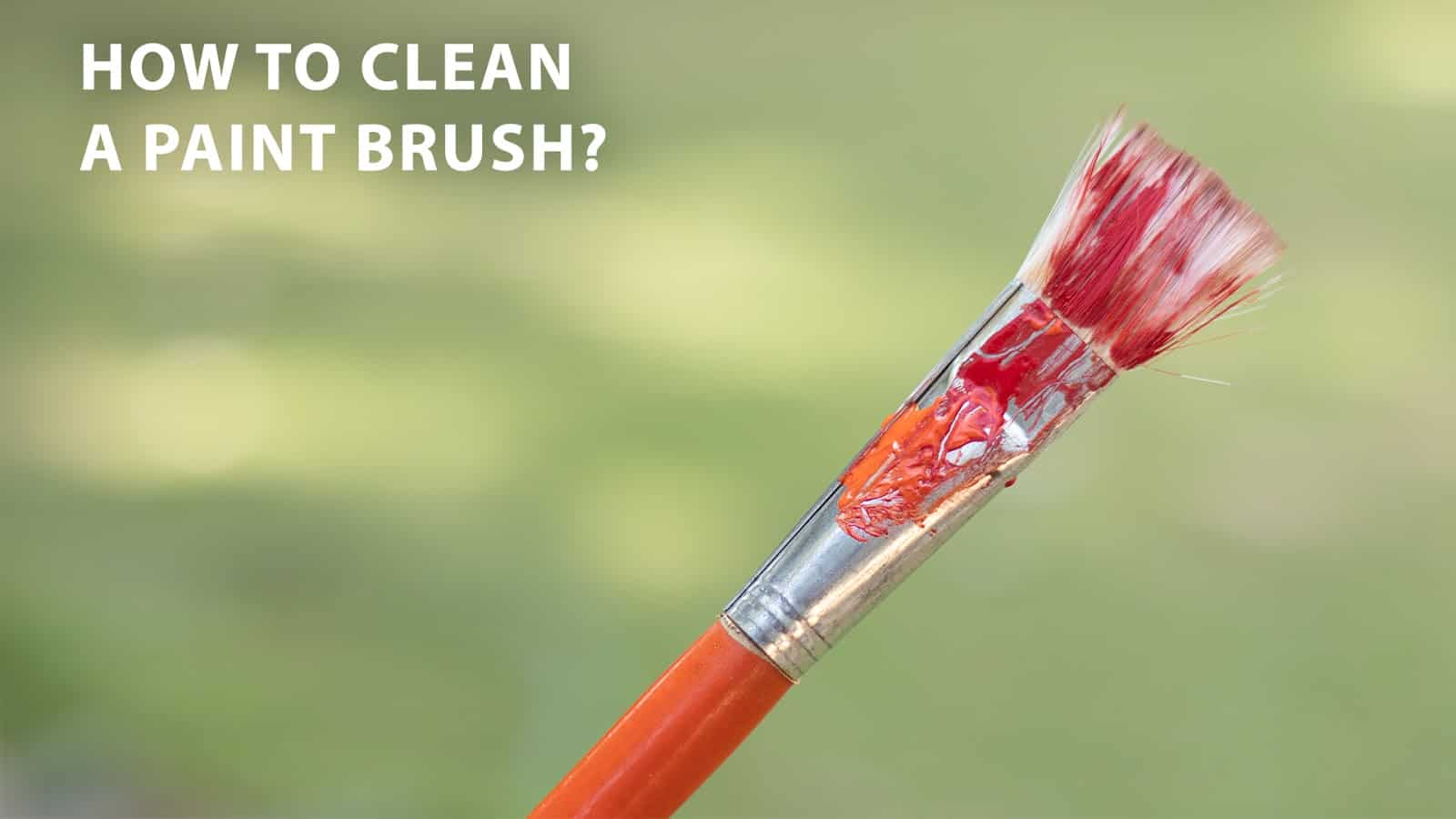 clean paintbrush