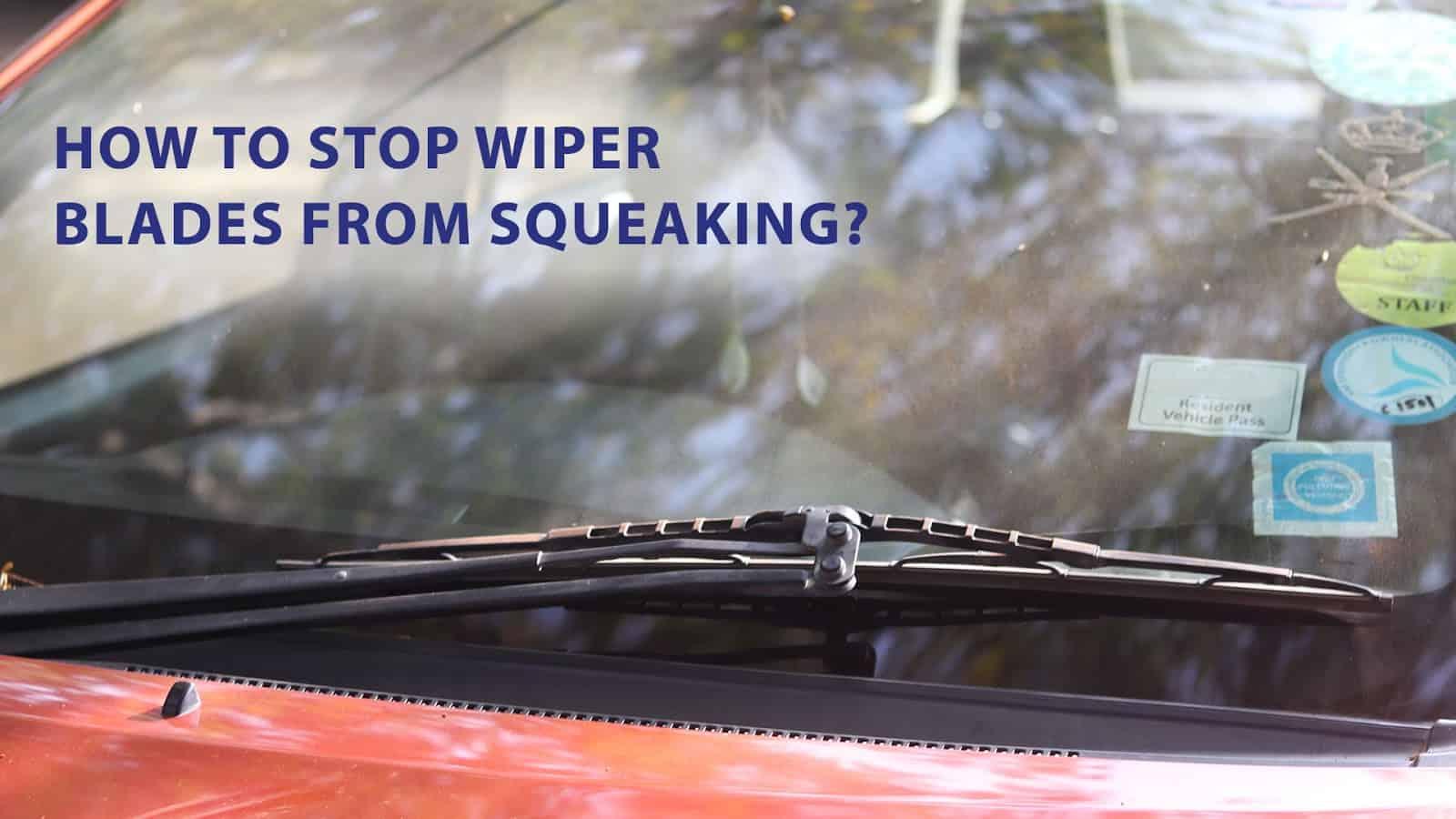 clean wiper blades