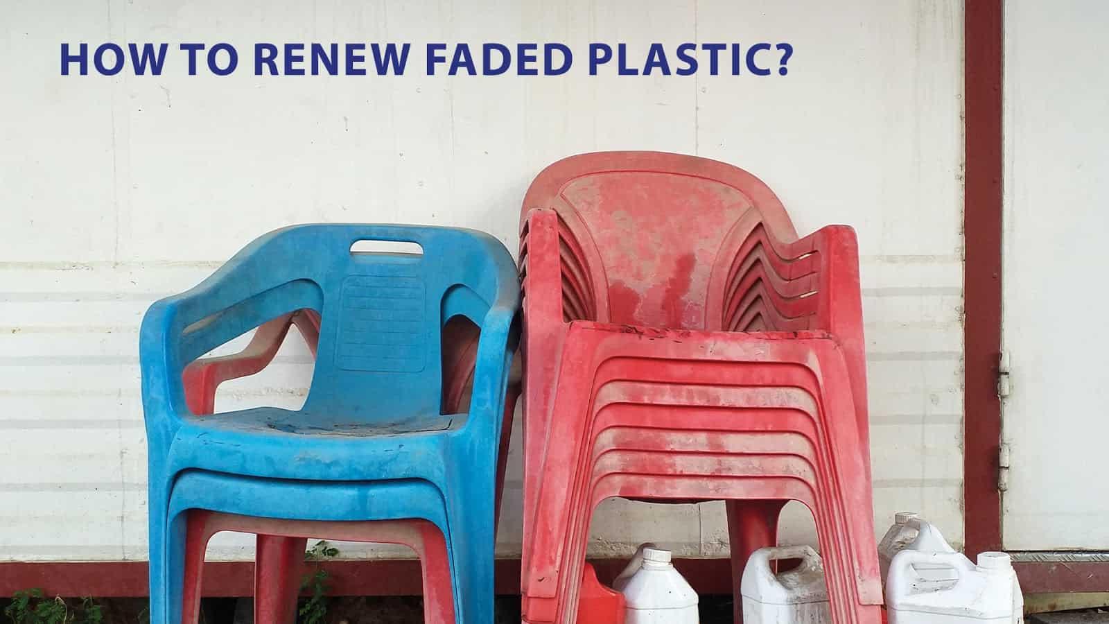 clean plastic furniture