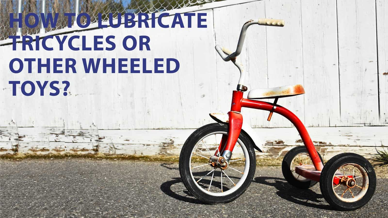 cleaning tricycles