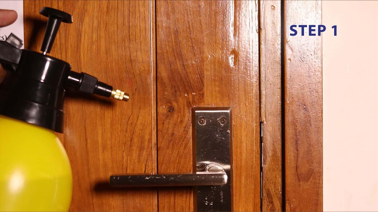 Steps for door lock maintenance