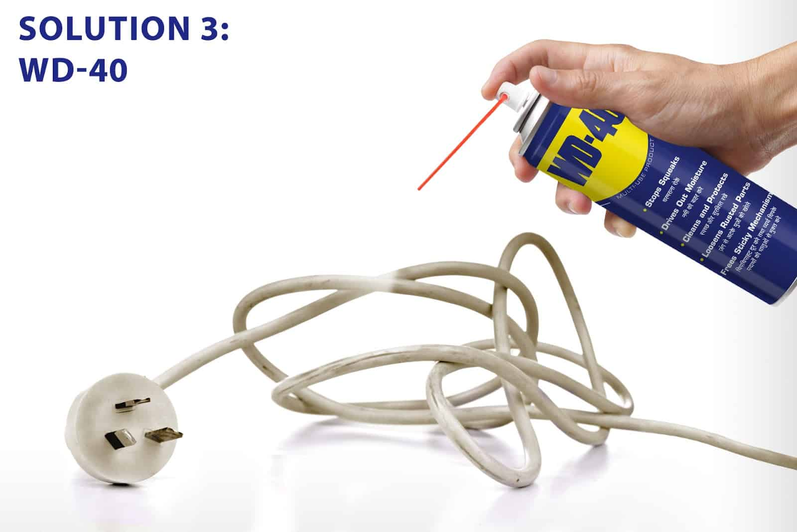 Dirty power cords? Here's how you can clean them.