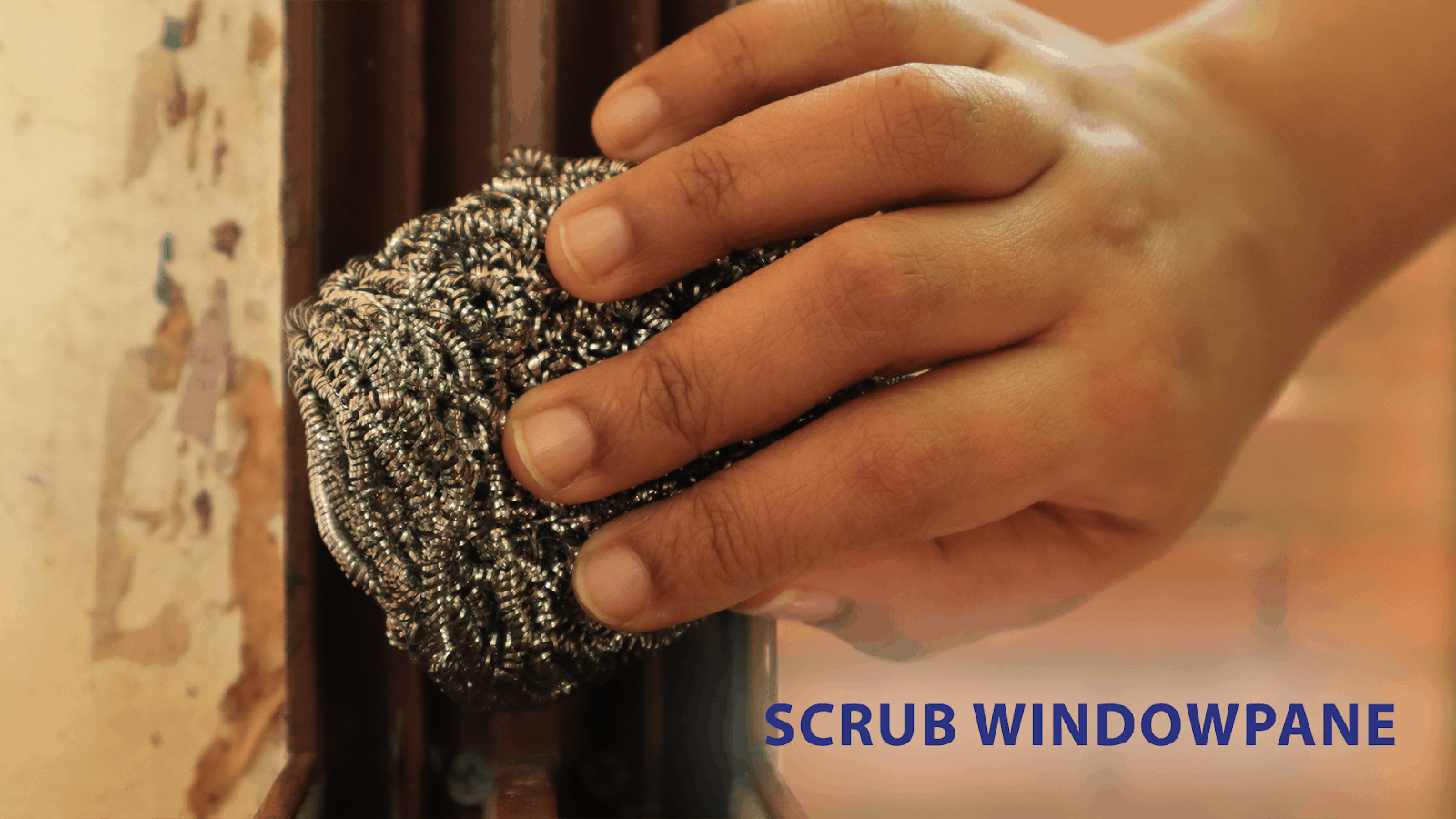A simple how-to for removing dirt from a windowpane