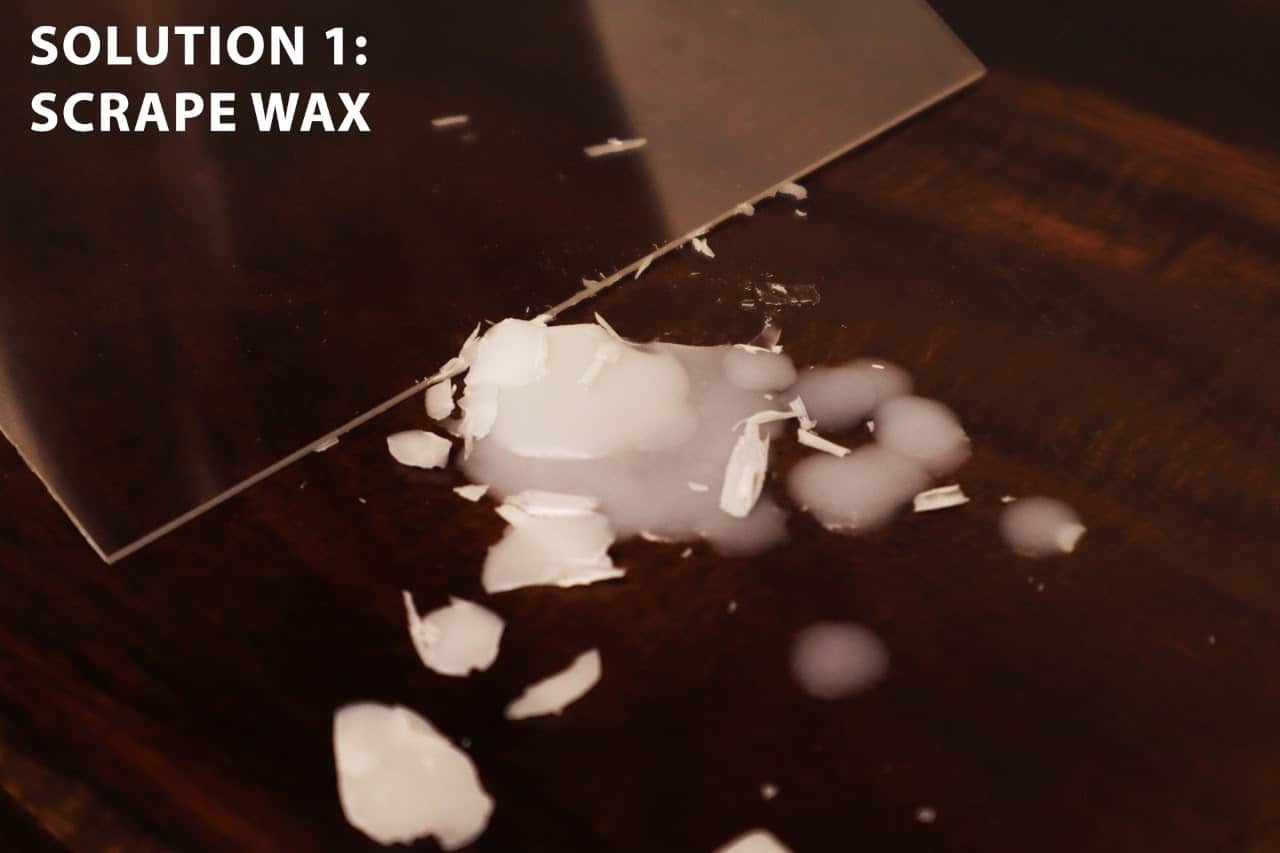 What's the best way to remove candle wax?
